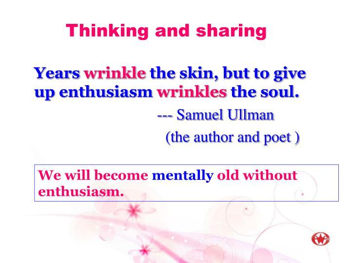 Thinking and sharing