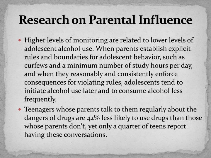Research on Parental Influence