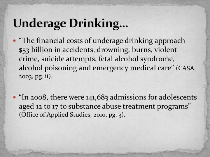 Underage Drinking…