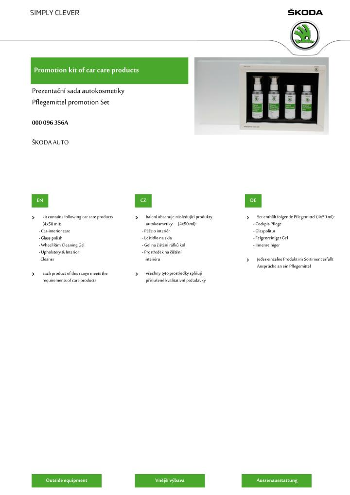 promotion kit of car care products n.