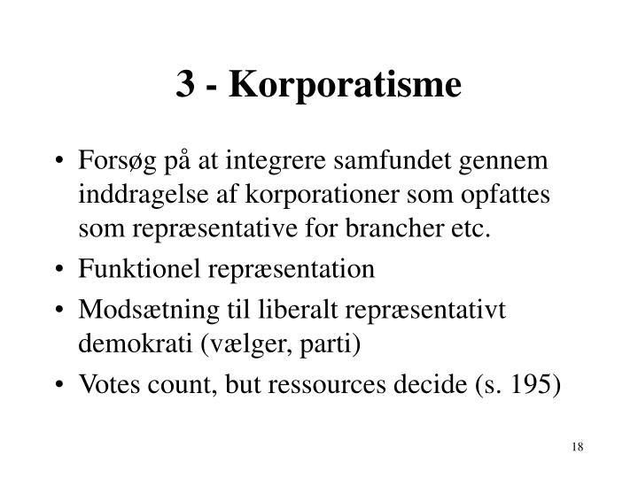 3 - Korporatisme