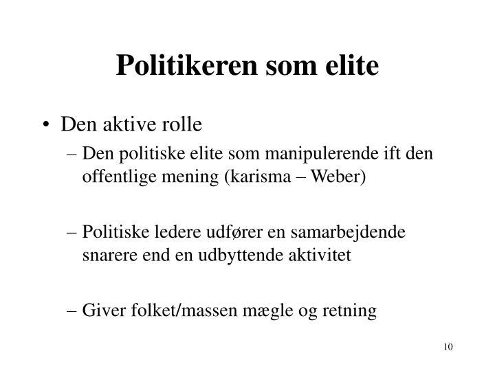 Politikeren som elite