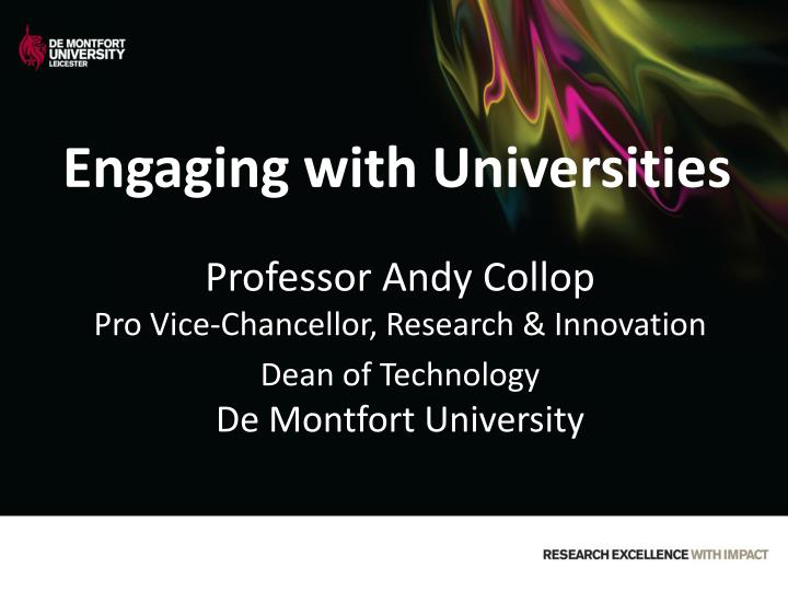 engaging with universities n.