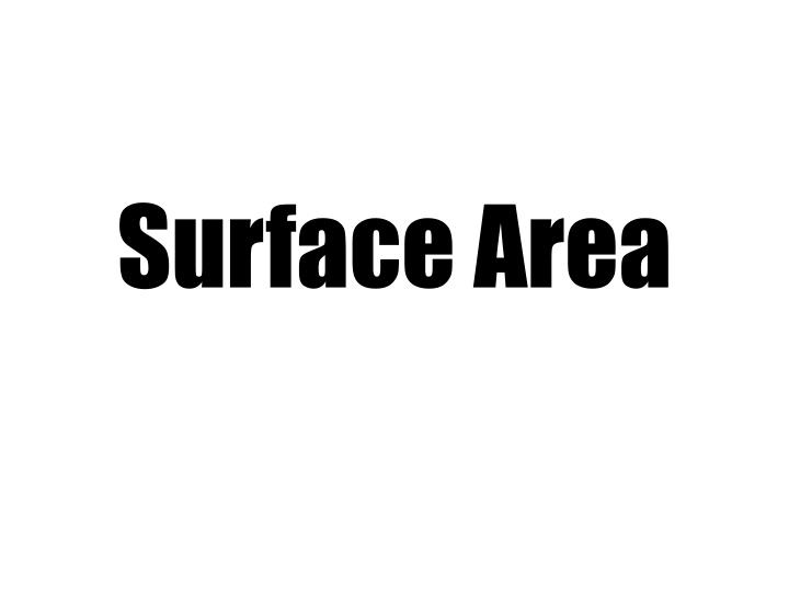 surface area n.