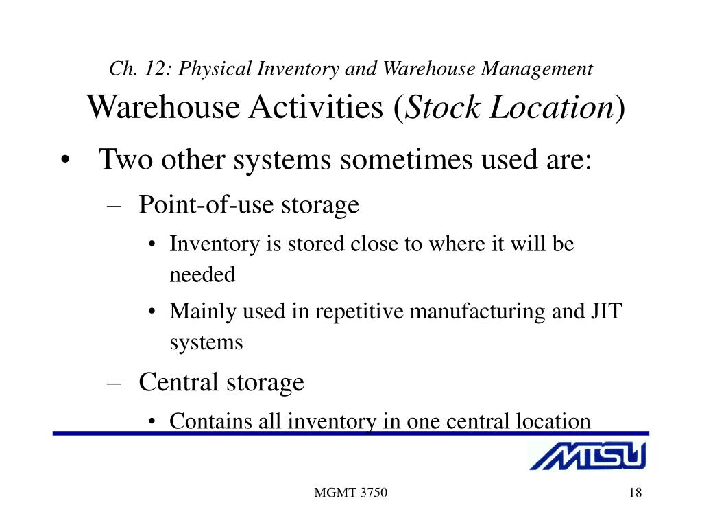PPT - Materials Management Systems PowerPoint Presentation