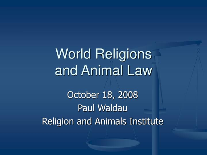 world religions and animal law n.