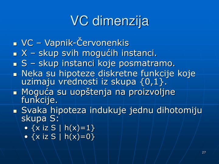 VC dimenzija
