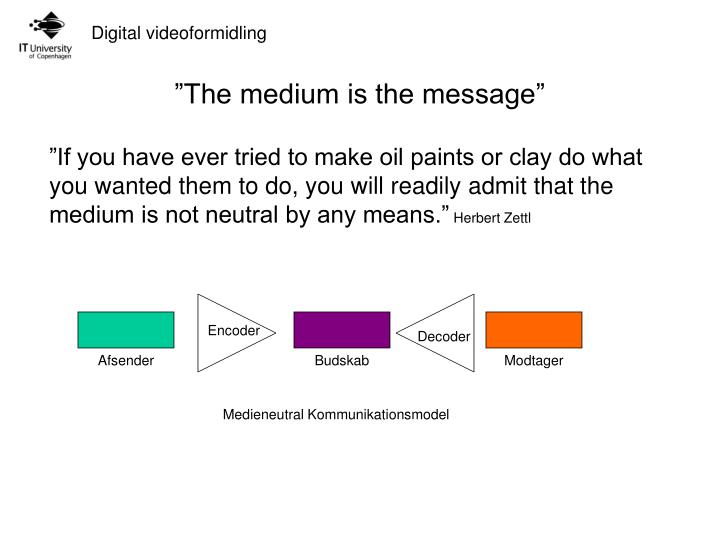 the medium is the message n.