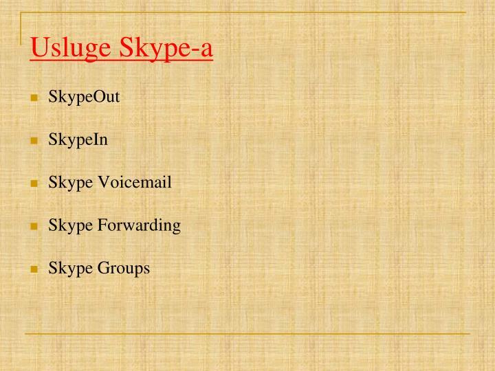 Usluge Skype-a