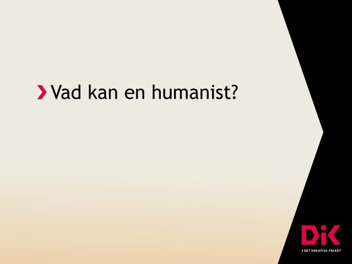 Vad kan en humanist?