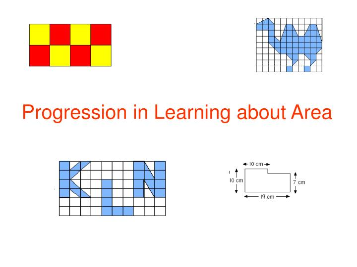 progression in learning about area n.
