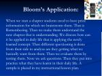 bloom s application