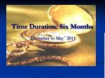 time duration six months