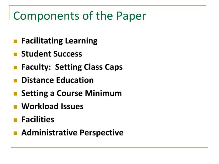 Components of the Paper