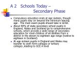 a 2 schools today secondary phase