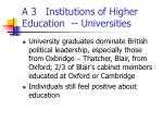 a 3 institutions of higher education universities2