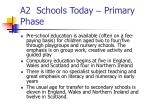 a2 schools today primary phase