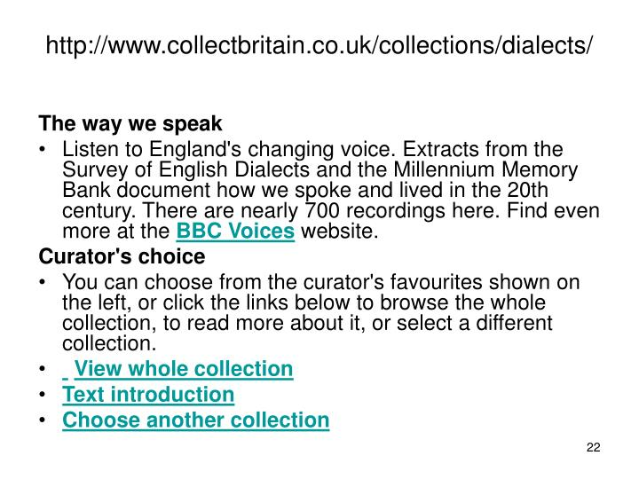 http://www.collectbritain.co.uk/collections/dialects/