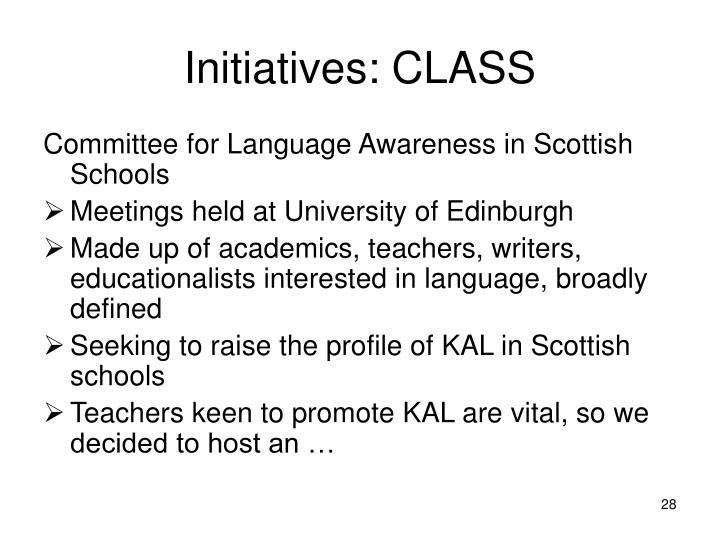 Initiatives: CLASS