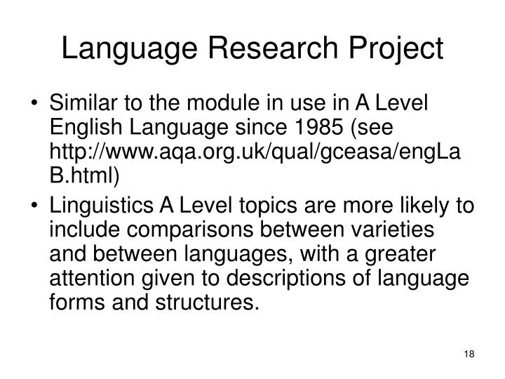 Language Research Project