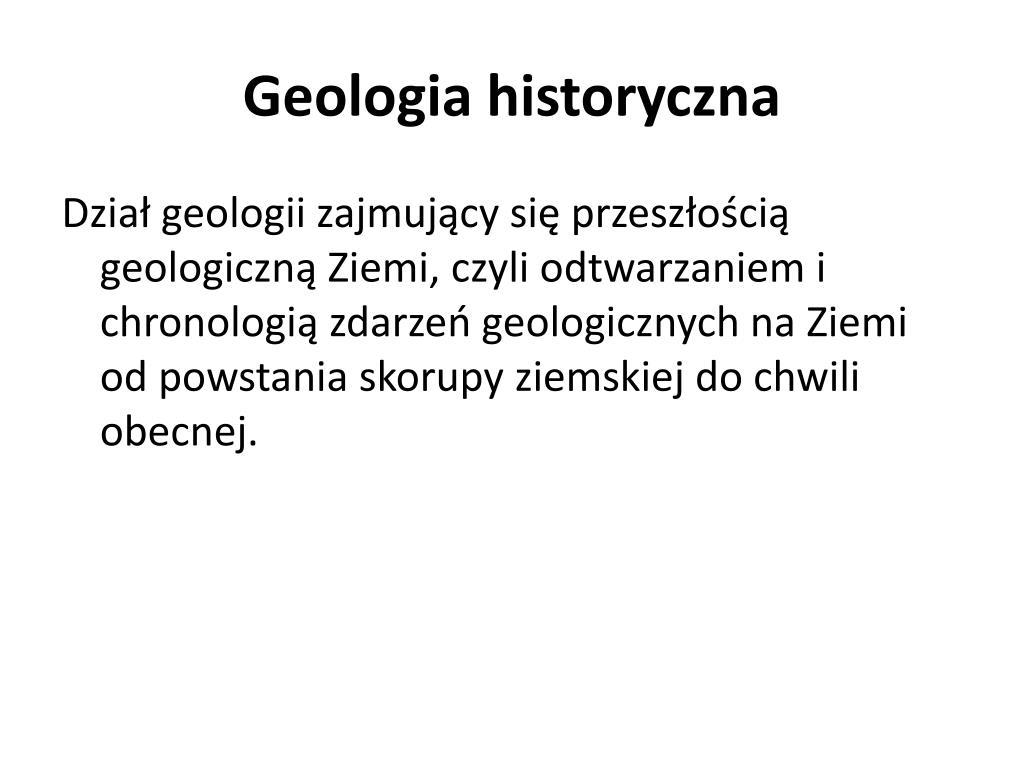 Zasady względnego datowania geologicznego