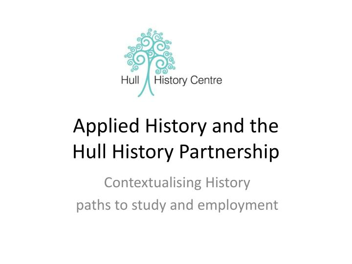 Applied History and the