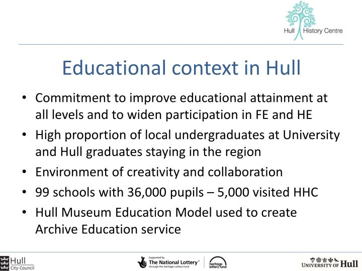 Educational context in Hull