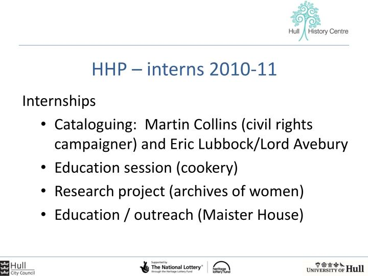 HHP – interns 2010-11