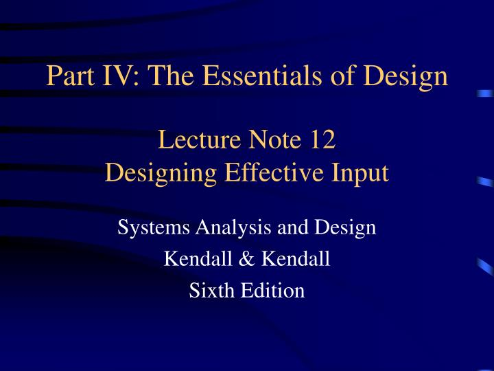 business system analysis and design notes
