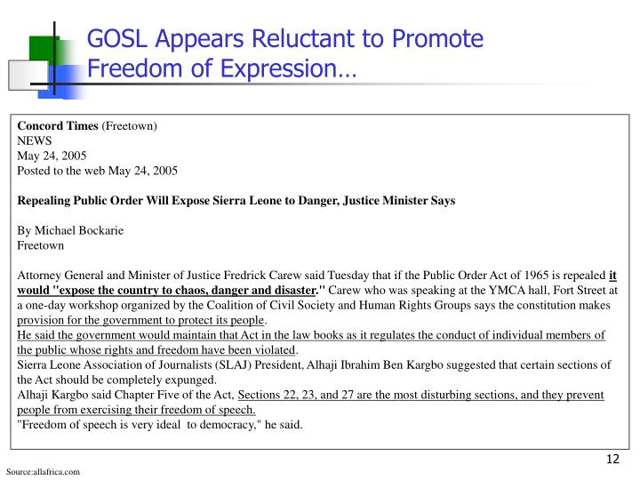 GOSL Appears Reluctant to Promote