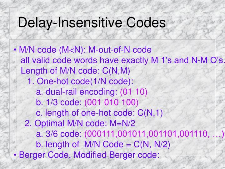 Delay-Insensitive Codes