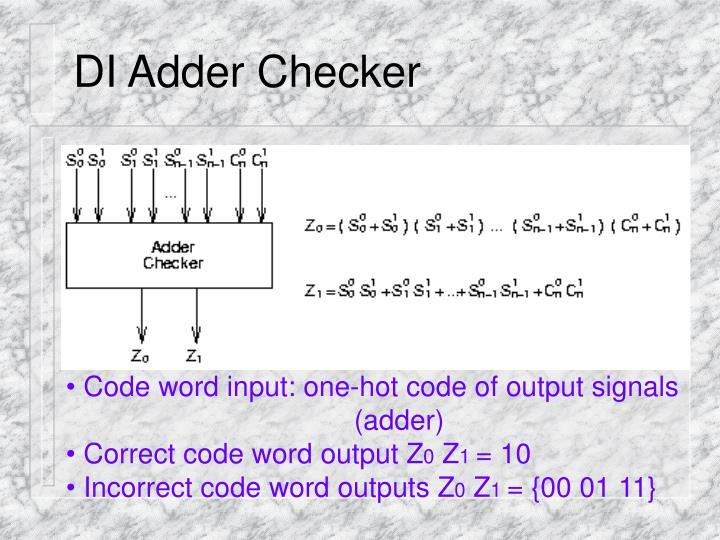 DI Adder Checker