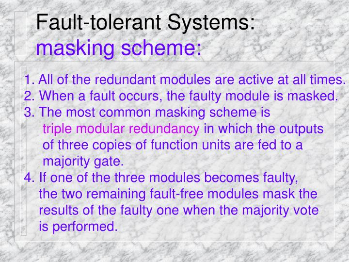 Fault-tolerant Systems: