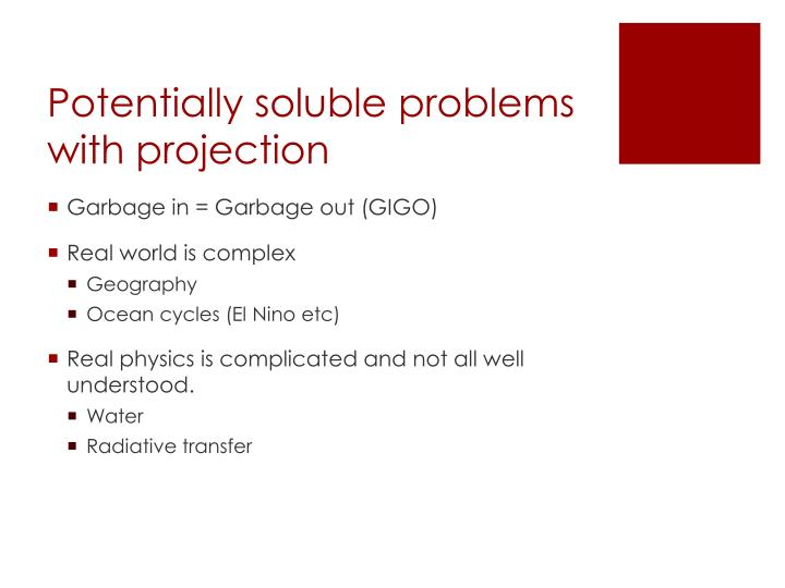 Potentially soluble problems with projection