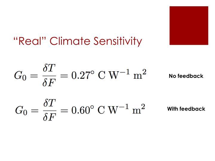 """Real"" Climate Sensitivity"