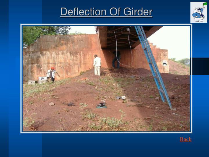 Deflection Of Girder