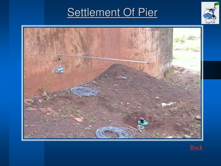 Settlement Of Pier