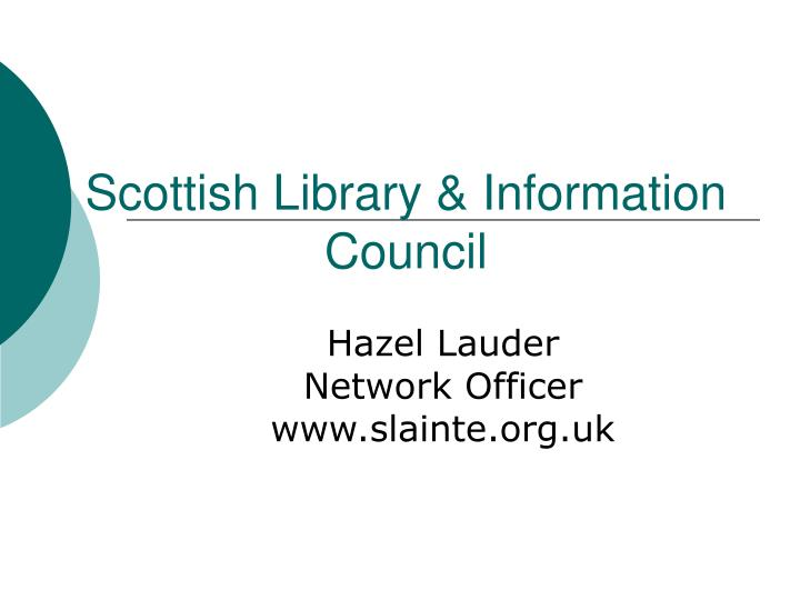 scottish library information council n.