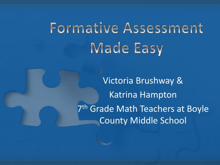 formative assessment made easy n.