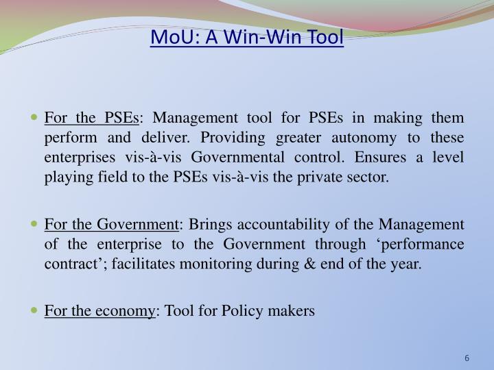 MoU: A Win-Win Tool