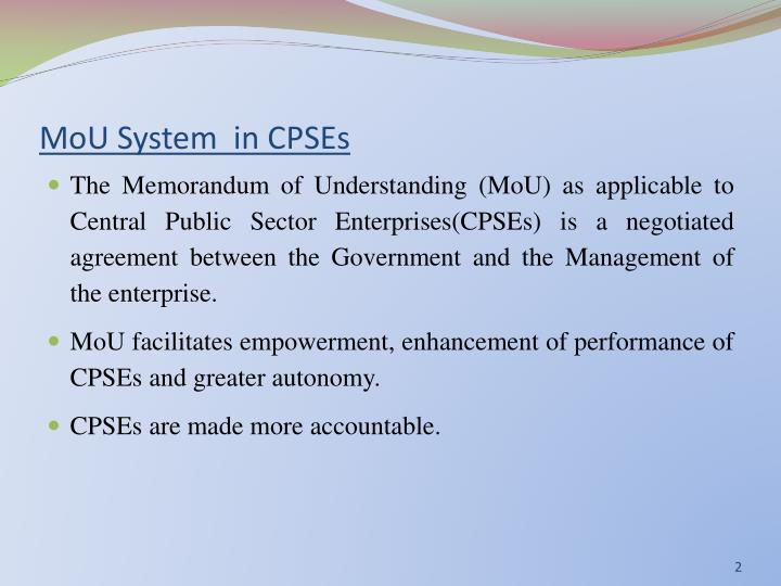 Mou system in cpses