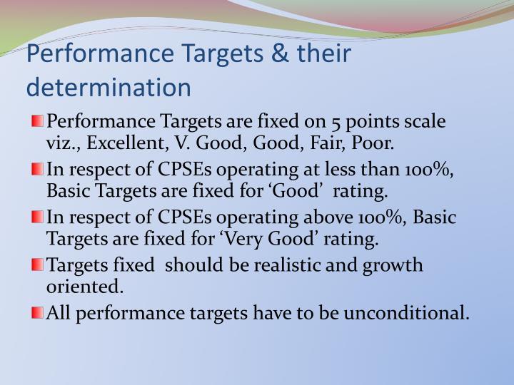 Performance Targets & their determination