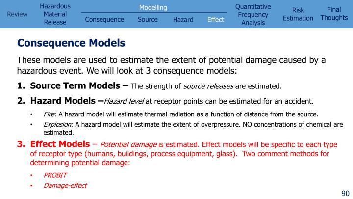 Consequence Models