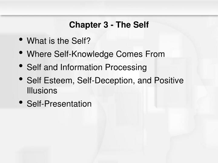 Chapter 3 the self