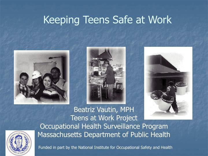 keeping teens safe at work n.