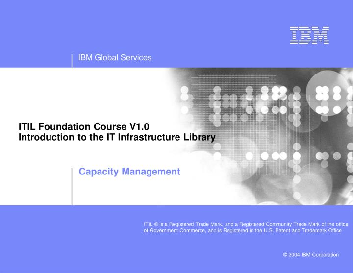 itil foundation course v1 0 introduction to the it infrastructure library n.
