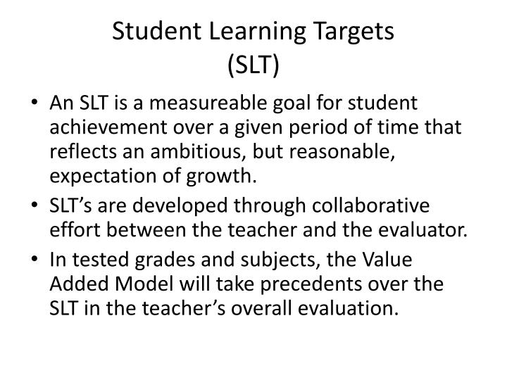 Student Learning Targets