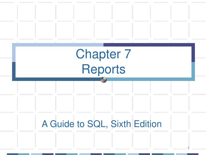 chapter 7 reports n.