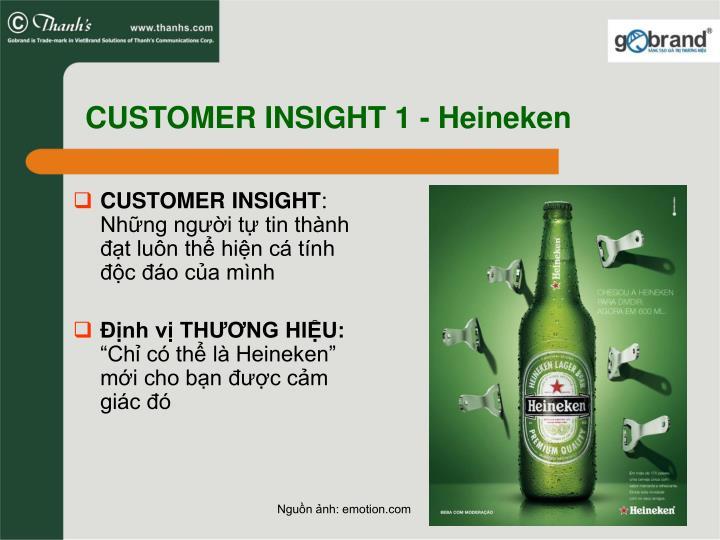CUSTOMER INSIGHT 1 - Heineken