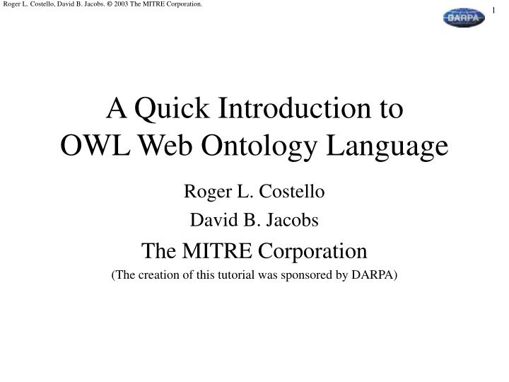 a quick introduction to owl web ontology language n.